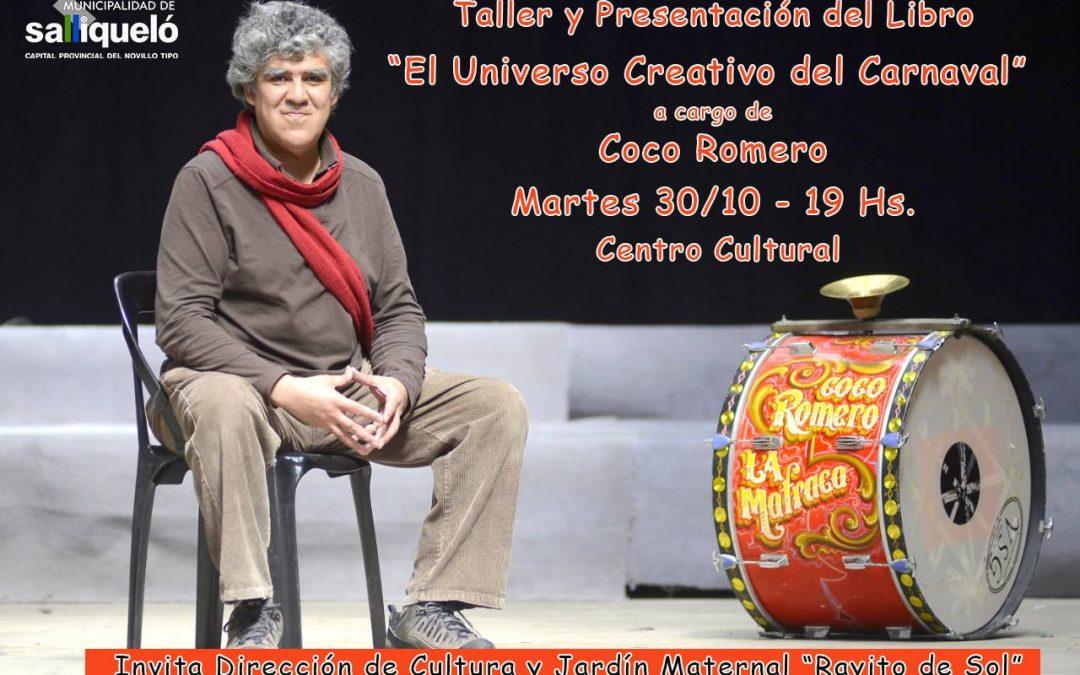 Taller y presentación del libro Universo creativo del Carnaval en Salliqueló