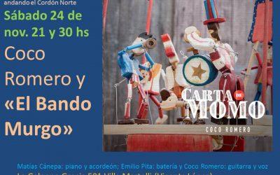 Coco Romero canta en La Galpona con el Bando Murgo